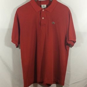 Lacoste Men's Red Polo Shirt (size 6/ Large /XL)